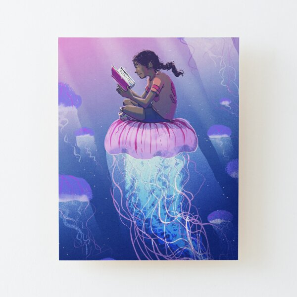 Floating Away Wood Mounted Print
