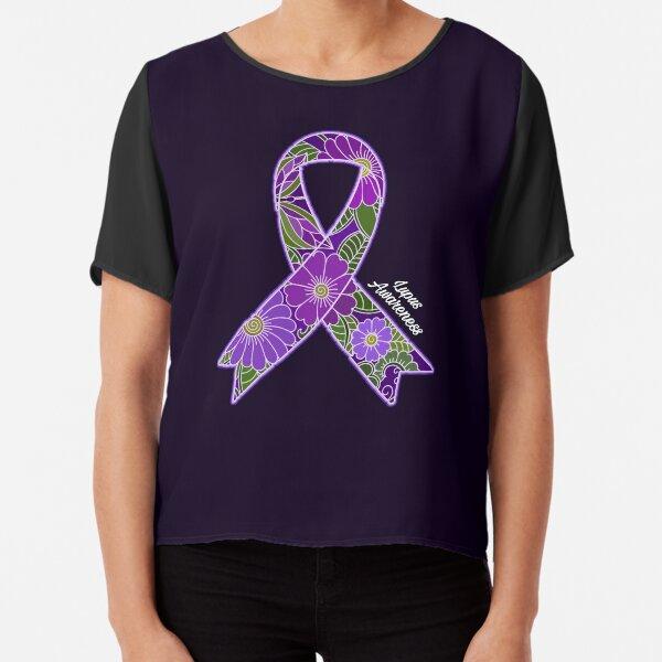 Lupus Awareness Purple Ribbon Chiffon Top