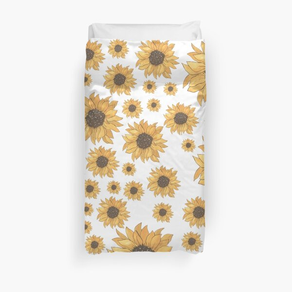 Sunflower Watercolour Pattern Duvet Cover