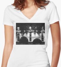 Rock on Religion Women's Fitted V-Neck T-Shirt