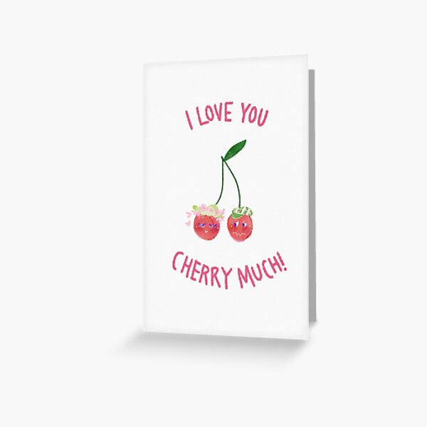 Fruit Red Pun 4 Cherry Thank You Notes