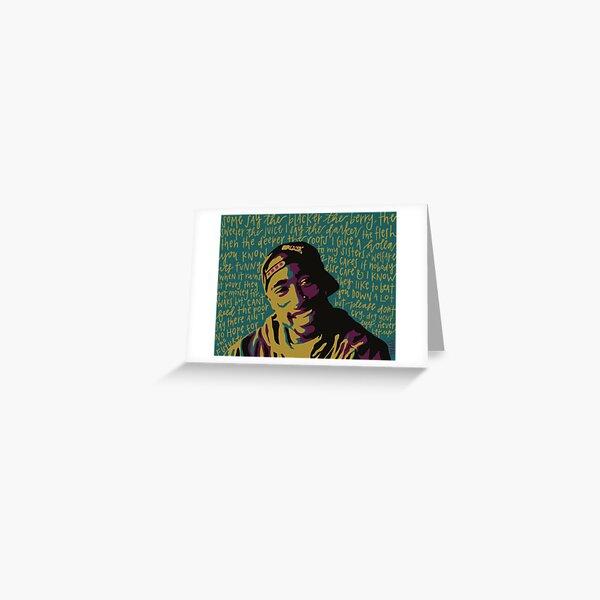 Tupac. Greeting Card
