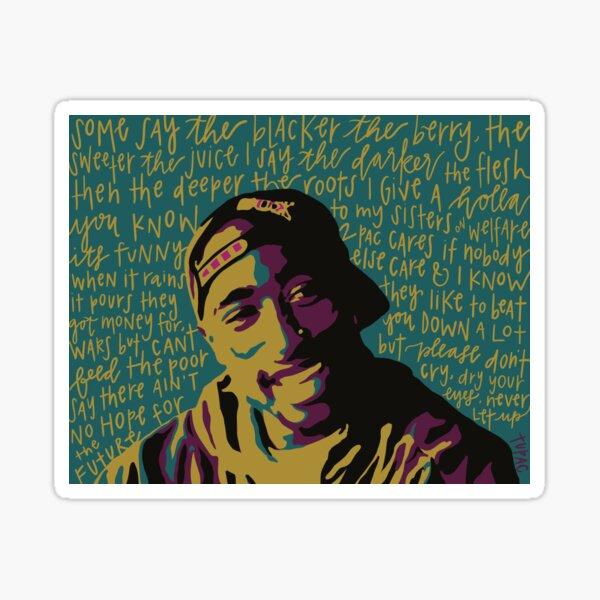 Tupac. Pegatina