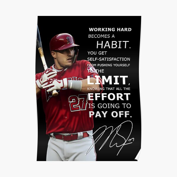 Mike Trout Inspirational Quote Poster
