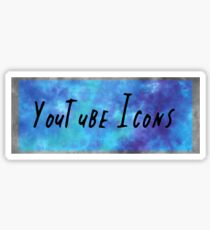 youtube icons blue Sticker