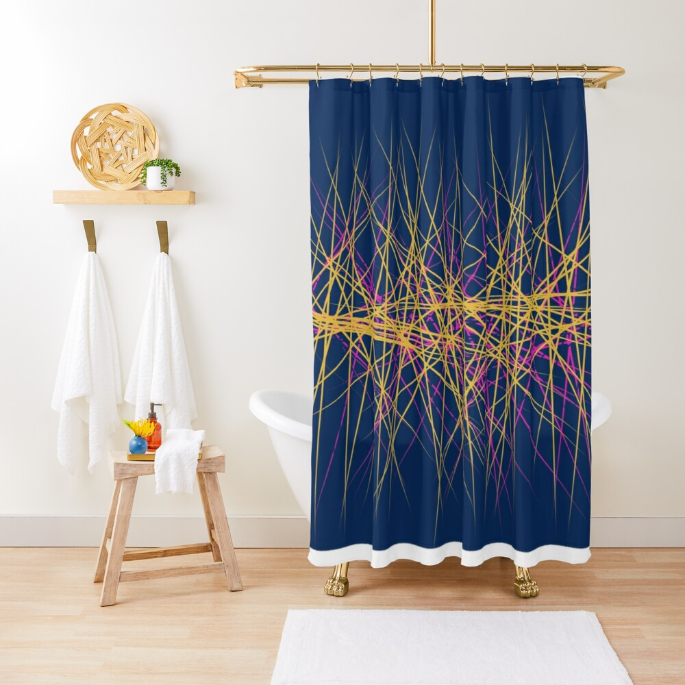 Spiny Golden Glow Magenta Shower Curtain