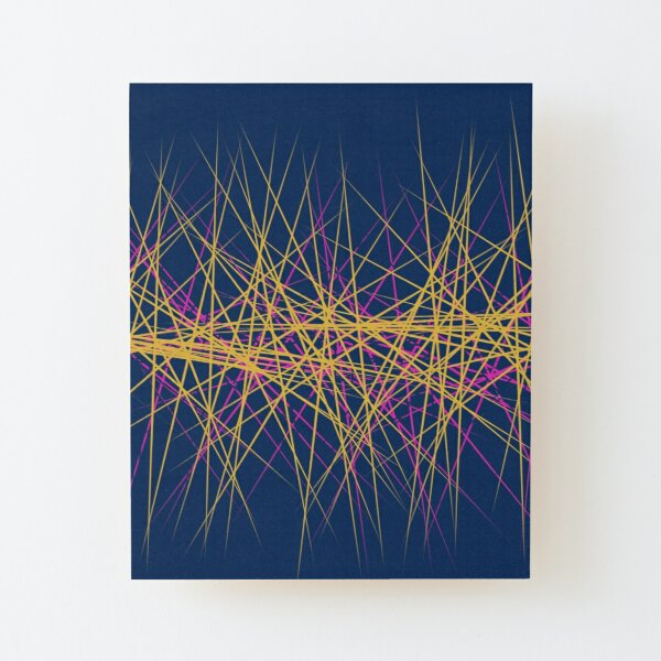Spiny Golden Glow Magenta Wood Mounted Print