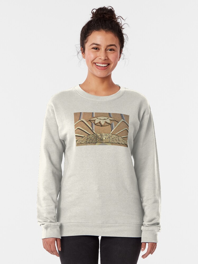 Alternate view of Angels & Art Deco-Main Street-Evansville Indiana Pullover Sweatshirt