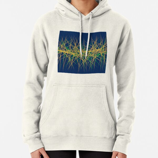 Spiny Golden Glow Green Pullover Hoodie