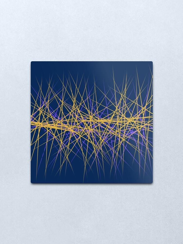 Alternate view of Spiny Golden Glow Purple Metal Print