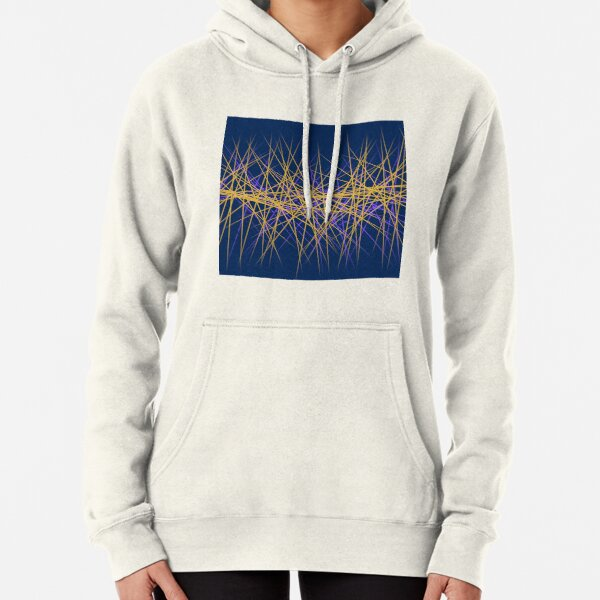 Spiny Golden Glow Purple Pullover Hoodie