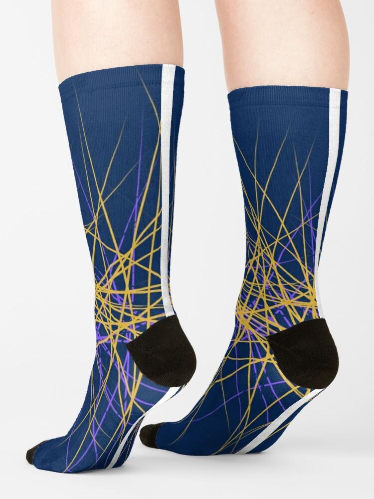 Alternate view of Spiny Golden Glow Purple Socks