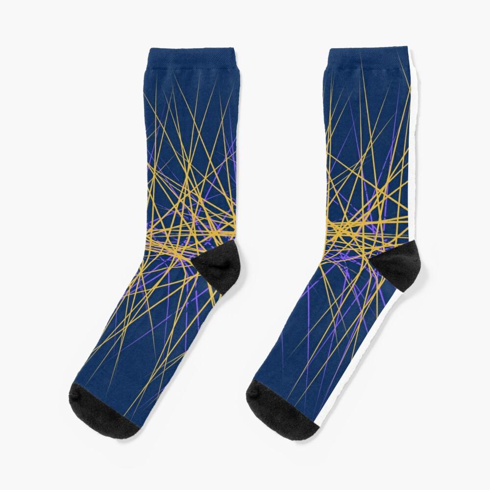 Spiny Golden Glow Purple Socks