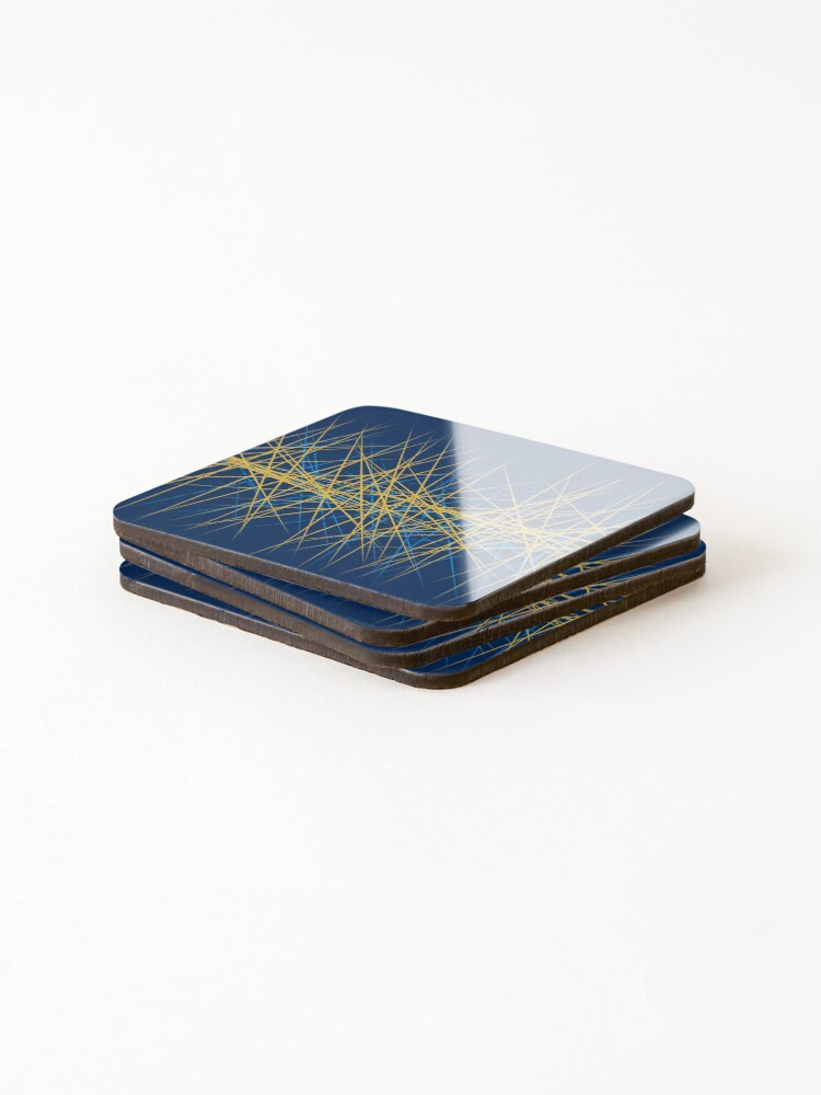 Alternate view of Spiny Golden Glow Blue Coasters (Set of 4)
