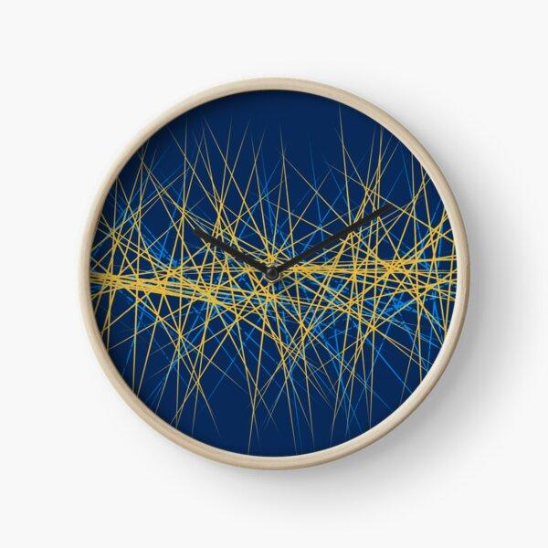 Spiny Golden Glow Blue Clock