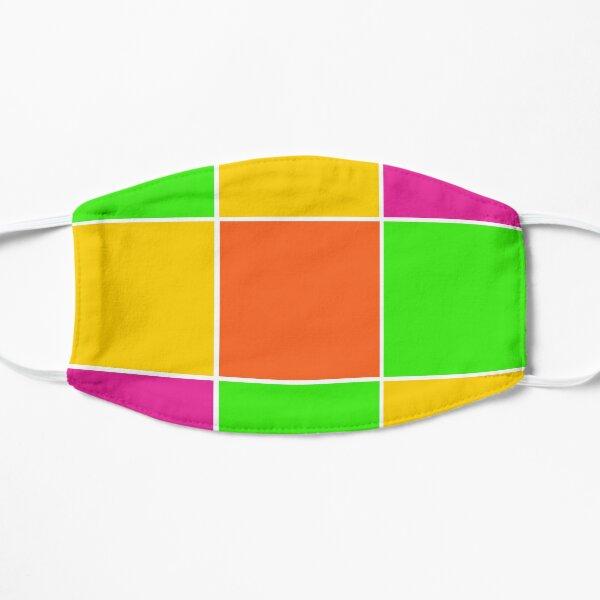 Sprouse inspired color blocks-checkered blocks-pop art Mask