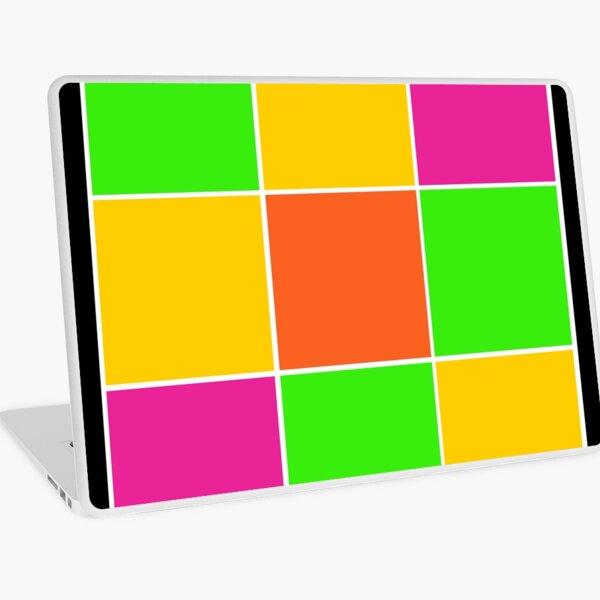 Sprouse inspired color blocks-checkered blocks-pop art Laptop Skin