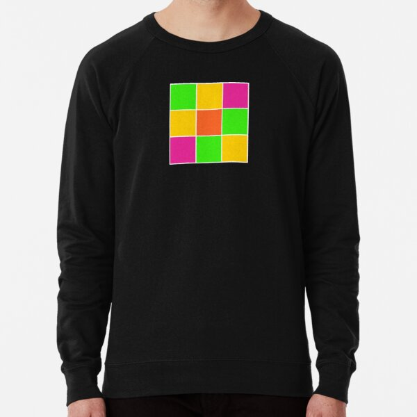 Sprouse inspired color blocks-checkered blocks-pop art Lightweight Sweatshirt