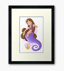 Purple Genie Girl Pinup Framed Print