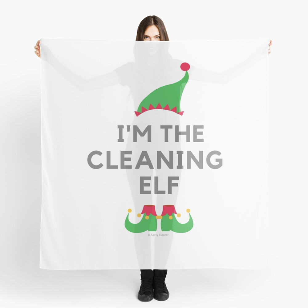 The Cleaning Elf, Funny Cleaning Humor Scarf