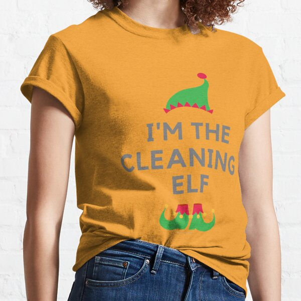 The Cleaning Elf, Funny Cleaning Humor Classic T-Shirt