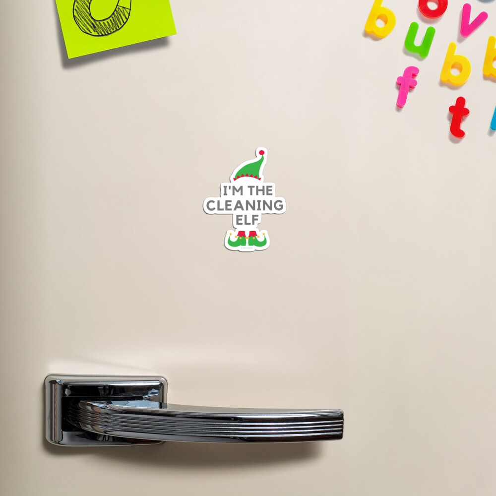 The Cleaning Elf, Funny Cleaning Humor Magnet