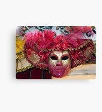 Venetian carnival mask. Canvas Print