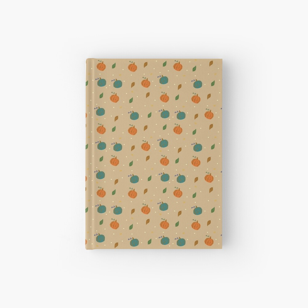 Pumpkins and Leaves Hardcover Journal