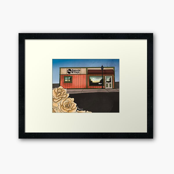 Biscuits and Vinyl-How I Remember My Town  Framed Art Print