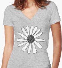 Because Daisies Women's Fitted V-Neck T-Shirt