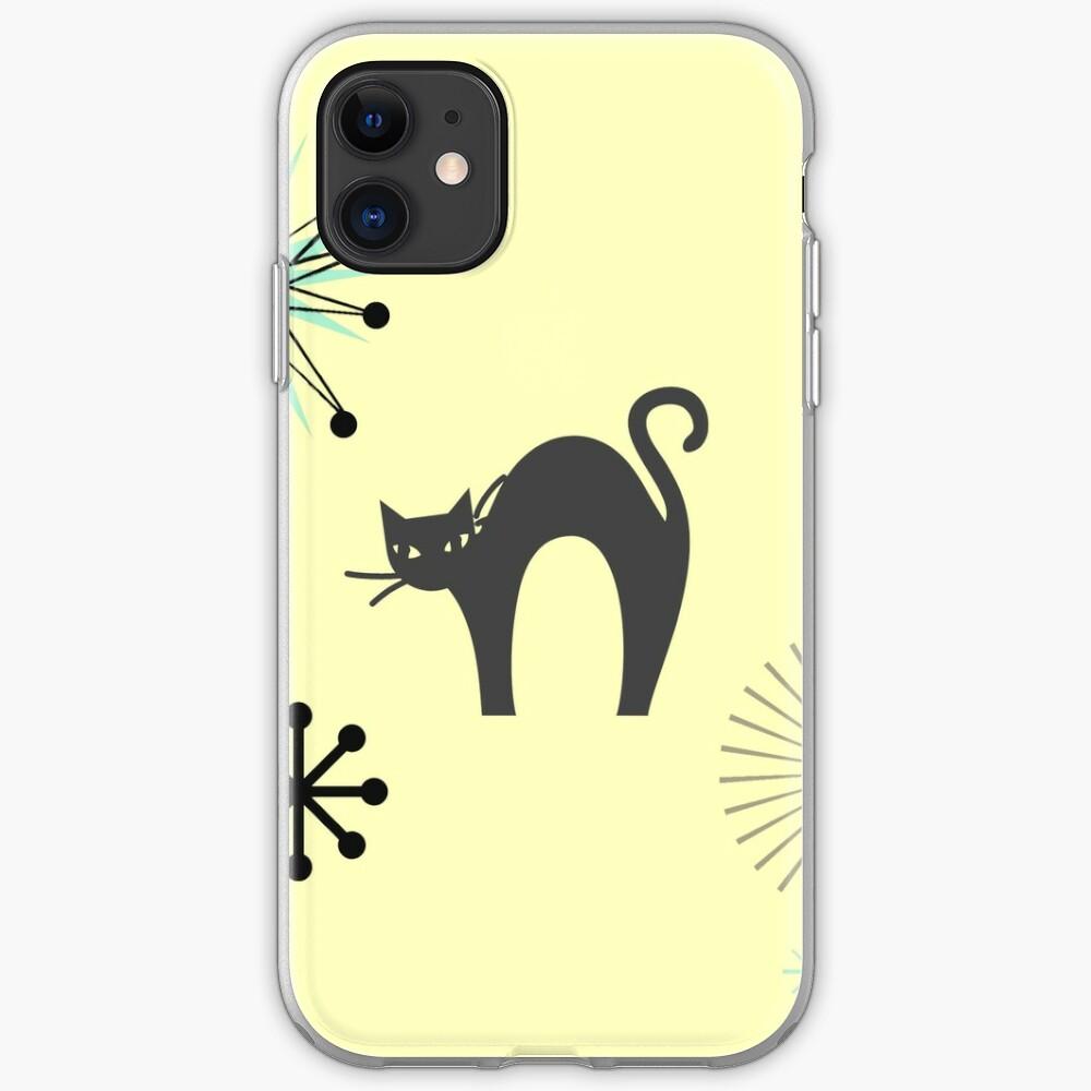 Black Cat & Jax-vintage cat-mid century cat iPhone Case & Cover