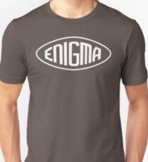 Enigma Machine Logo (White) Unisex T-Shirt