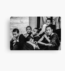 Buddha Boys Canvas Print