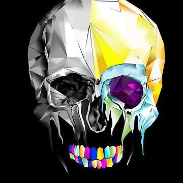 Graphic Geometric Low Poly Skull Design by LIVMXHXR