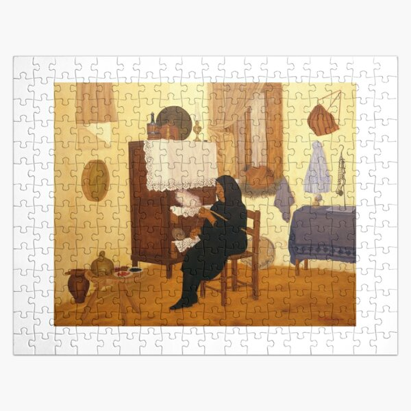 Making wool Jigsaw Puzzle