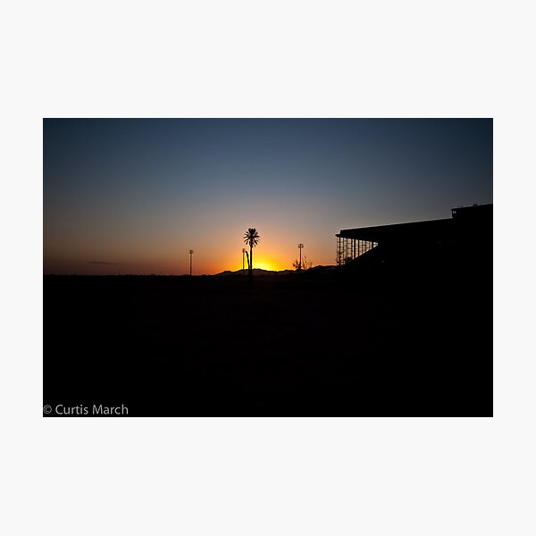 Horse Track Sunset Photographic Print