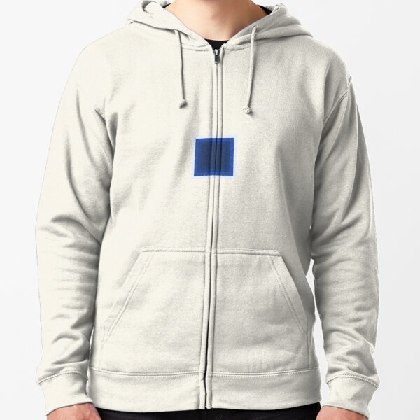Aware of a blue square Zipped Hoodie