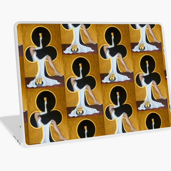 Queen of Clubs 2 by Avril Thomas Laptop Skin