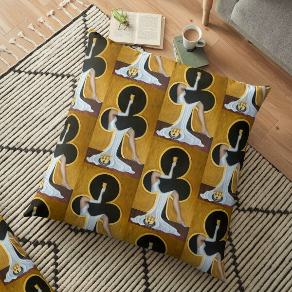 Queen of Clubs 2 by Avril Thomas Floor Pillow