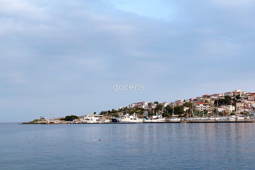 Neos Marmaras port Sithonia Greece by goceris