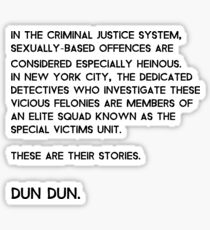 Law & Order: Special Victims Unit Sticker