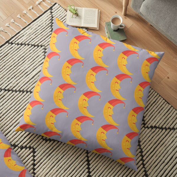 Happy moon sitcker Floor Pillow