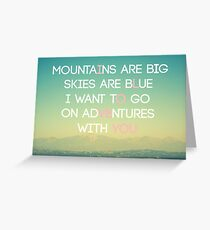 Adventures and I Love You (MODERN) Greeting Card