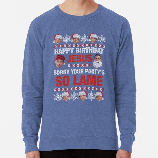 Michael Scott Christmas Sweater Lightweight Sweatshirt