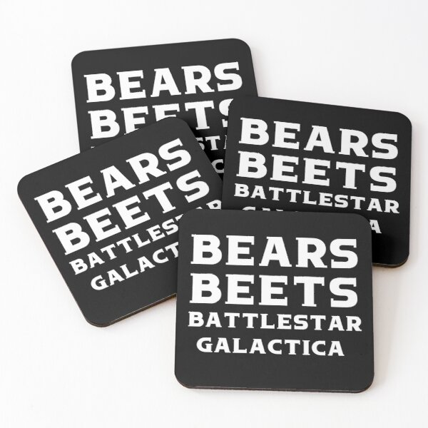Bears Beets Battlestar Galactica Shirt - The Office Shirt - Jim Halpert - Dwight Schrute - Funny Dwight Schrute Office Shirt,The Office Swe Coasters (Set of 4)
