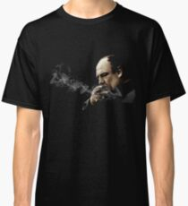 Tony Soprano Smoking A Sigar Classic T-Shirt
