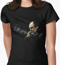 Tony Soprano Smoking A Sigar Womens Fitted T-Shirt