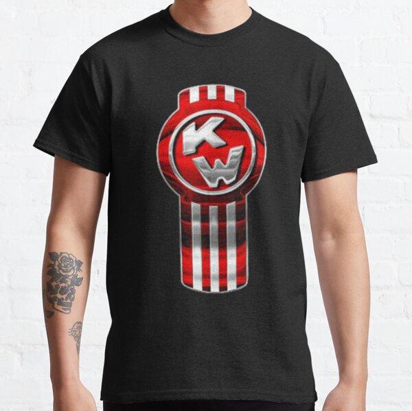 Póster Retro clásico con logotipo de aspecto metálico premium genuino de KENWORTH Camiseta clásica
