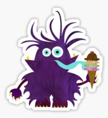 Monsters like ice cream too Sticker
