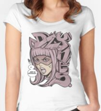 Dzynes must be destroyed! (pink) Women's Fitted Scoop T-Shirt